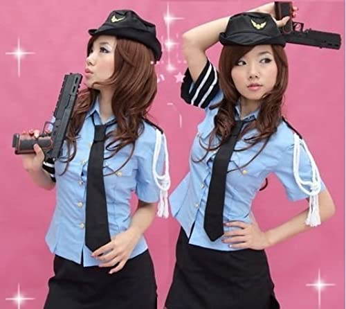 precios razonables Cosplay Cosplay Cosplay costume Policewoman set of 4 free Talla - Comiket stage clothes, uniforms for cosplay (japan import)  Obtén lo ultimo