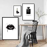 Slagman Moderne Wand Bild Lippen Vogue Poster Parfüm