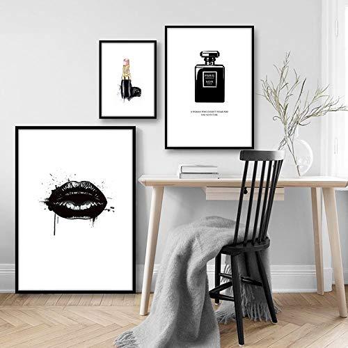 Slagman Moderne Wand Bild Lippen Vogue Poster Parfüm Nordic Poster und Drucke Wandkunst Leinwand Malerei für Wohnzimmer Home Decoration