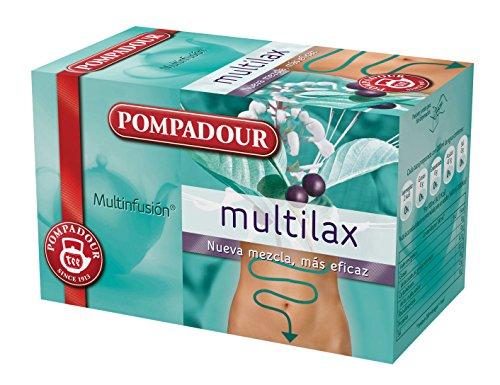Pompadour - Multilax - Té de Plantas como Complemento Alimenticio - 20 bolsitas