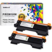 Amicool Toner Cartridge for Brother TN450 TN420 High Yield Replacement Black Toner, Page Yield up to 5200 Per Unite (2 Packs)