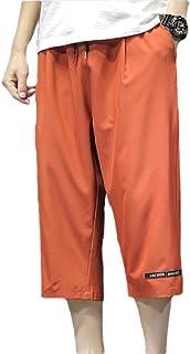 Men Pants Drawstring Capri Sports Summer Jogger Sport Pants