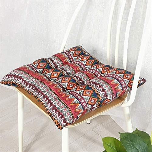 Cojín de Espuma Memoria 2 Paquete cuadrado de la silla Sillas for los cojines del asiento decorativo cojín Cojines antideslizante acolchada del asiento almohadillas de algodón de lino Presidente Cojin