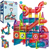 Magnetic Marble Run Building Set - 191 Piece - 3D Magnetic Tiles Ball Track -Building Kit Fun and...