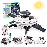 Gifts for 7 8 9 10 11 12 13 Year Old Boys - STEM 6 in 1 Solar Robot Toys, Building Science Kits for...
