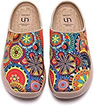 UIN Women's Travel Slipper Lightweight Home Slip Ons Walking Casual Art Painted Travel Holiday Shoes Blossom (40)