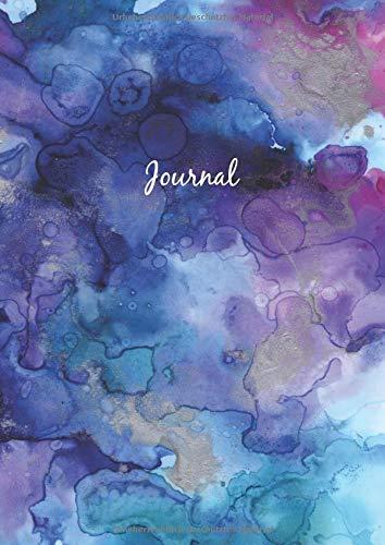 Dot Grid Journal - A4 Notizbuch: Blanko Heft Für Bullet Journaling   Dotted Notebook   110 Punktraster Seiten   Soft Cover   Aquarell