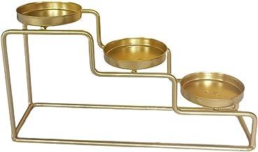 gazechimp Suporte de vela de metal, escada Suporte de vela de metal Candelabro para vela cônica, castiçais, central Peça d...