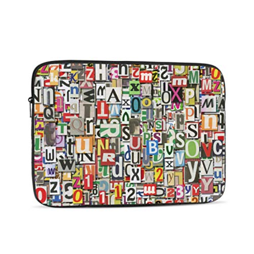 13 MacBook Case Fashion Modern Digital Letter Doodle MacBook Air 2017 Case Multi-Color & Size Choices 10/12/13/15/17 Inch Computer Tablet Briefcase Carrying Bag
