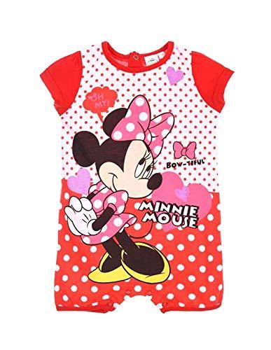 Minnie Barboteuse bébé Fille Disney Rouge de 3 à 18mois - Rouge, 6 Mois