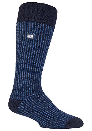 HEAT HOLDERS - Hommes Longues Chaudes Neige Hiver Démarrage Chaussettes 39-45 eur (Bleu)