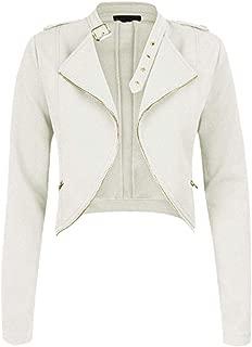 Women's Slim Moto Biker Zipper Short Coat Jacket Zipper Up Bomber Jacket