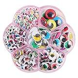 400 Piezas Ojos de Juguete Plástico, Ojos Móviles Manualidades Pequeños, Adhesivos Ojos para Muñecos...