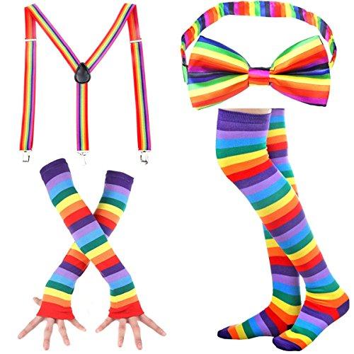 icefeld Damen Kniestrümpfe - Overknee Strümpfe Streifen Lange Socken Retro Knitting Strümpfe Mädchen Cheerleader Sportsocken Baumwollstrümpfe, Durchschnittlicher Code, 134-140, Grau