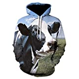 Sudadera Hombres Mujeres 3D Print White Horse Animal Streetwear Invierno Pullover