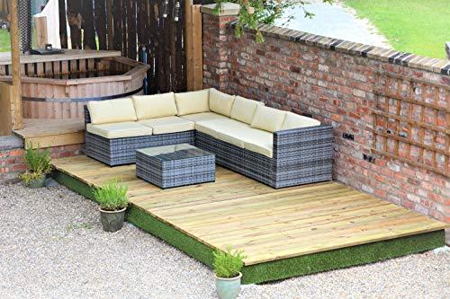Swift Deck Garden Decking Kit 2.4 x 4.7m, Timber