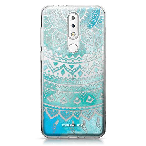 CASEiLIKE Nokia 5.1 Plus Hülle, Nokia 5.1 Plus TPU Schutzhülle Tasche Hülle Cover, Indische Linie Kunst 2066, Kratzfest Weich Flexibel Silikon für Nokia 5.1 Plus