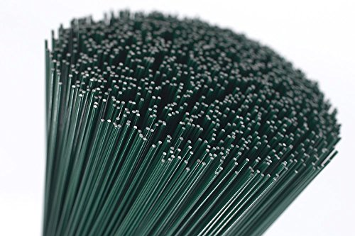 (250x0.7) 250g green lacquered (300 Wires) 10' Florists Thin Stub Wire 22 Gauge