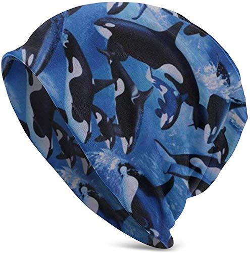 Unisex Killerwale Orcas Ocean Sea Animals Mütze Schädelkappe Stretchy Warm Soft...
