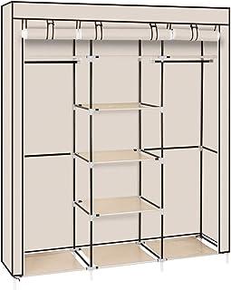 U-Kiss Armoire de Rangement Armoire Garde-Robe transportable Toile Armoire Vêtements Organisateur Penderie de vêtement Pli...