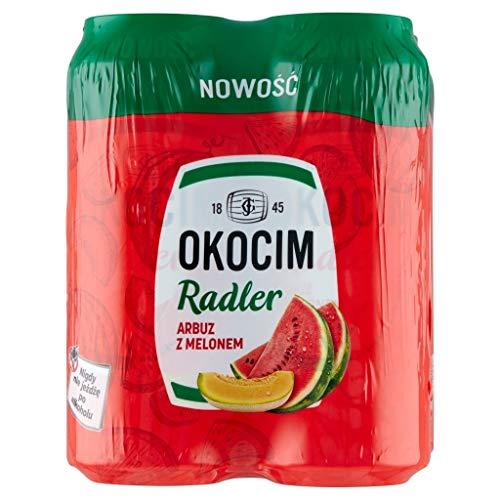 GroßhandelPL Bier Okocim Radler mit Wassermelone und Melone 12er Pack x 4 Dose (48x 500ml)