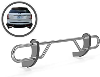 VGRBG-1045SS Stainless Steel Double Tube Rear Bumper Guard compatible with 11-18 Ford Explorer