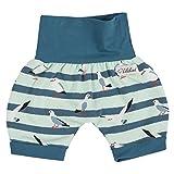 "Lilakind"" Kurze Kinder-Hose Baby Shorts Buchse Sommerhose Mädchen Jungen Möwen Blau Gr. 74/80- Made in Germany"