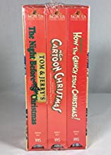 3 VHS Tom & Jerry's the Night Before Christmas, Dr. Seuss' How the Grinch Stole Christmas, and MGM Cartoon Christmas