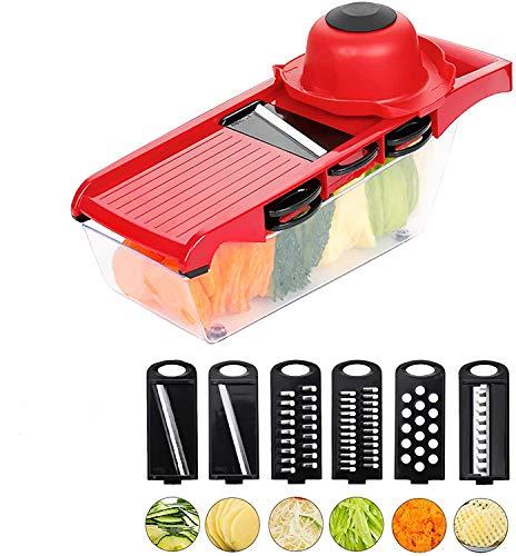 OrangeClub Gemüse Slicer Multi Cutter Reibe für Gemüse Mandoline Schäler Karotte Obst Schneiden Küche Zubehör Gemüse Cutter