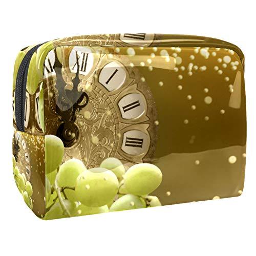 Bolsa de maquillaje portátil con cremallera bolsa de aseo de viaje para las mujeres práctico almacenamiento cosmético bolsa de Nochevieja