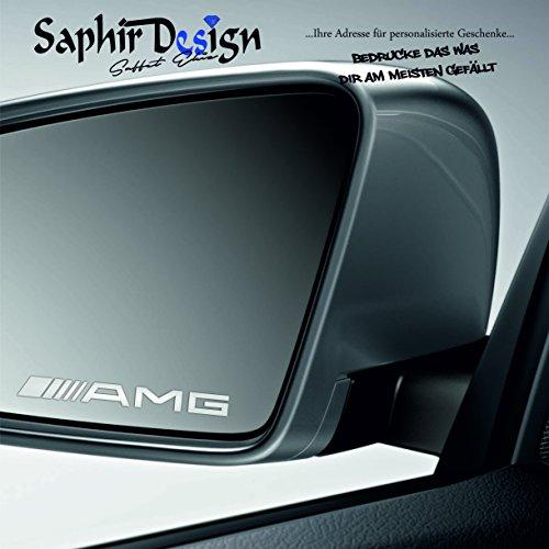 Saphir Design 4X ////AMG Milchglasfolie für Aussenspiegel/Mercedes/Sehr Coole Tuning Aufkleber / M124 Farbe Milchglas