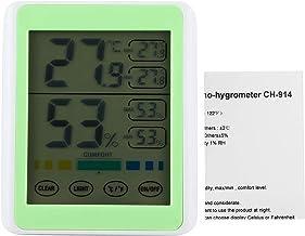 03 Termómetro Digital con Pantalla táctil, medidor de Humedad para termómetro, hogar eléctrico Colgante para jardín Interior