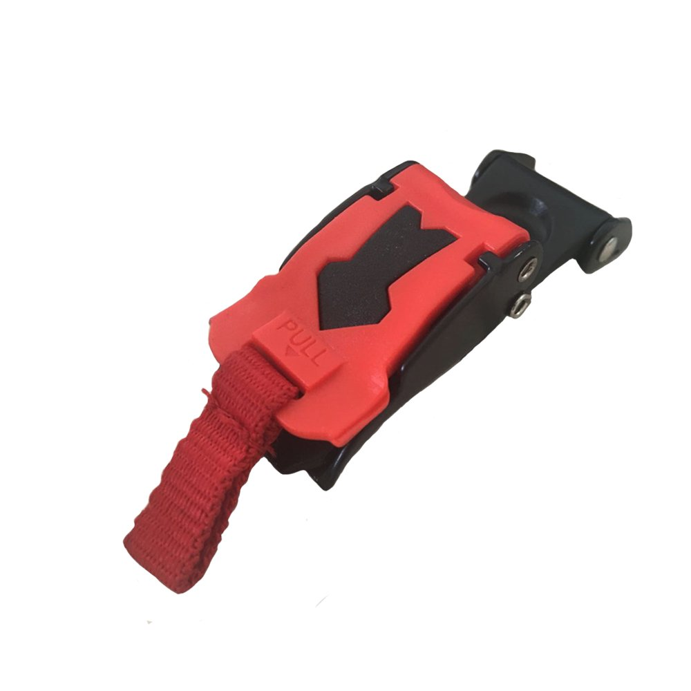 1X Quick Release Helmet Strap Buckle Pull Buckles Black /& Red .JO