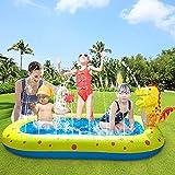 Volador Planschbecken für Kinder Baby Hunde, Aufblasbarer Pool, Sprinkler Splash Kinderplanschbecken Outdoor Wasserspielzeug Garten Draußen Kinderpool 170x105x 68CM