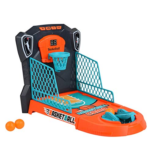 AIJIANG Mini juego de baloncesto de mesa, juguetes de escritorio para niños con marcador electrónico y luces de música, juguete de mesa para niños y niñas