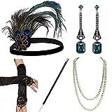 E EBETA Année 20 Accessoires Gatsby Costume Bandeau Collier Perles des...