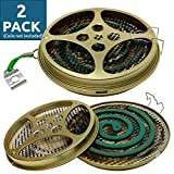 Portable Mosquito Coil Holder - Mosquito Coil & Incense Burner for Outdoor use, Pool Side, Patio, Deck, Camping, Hiking, etc. (Includes Set of 2 Holders)