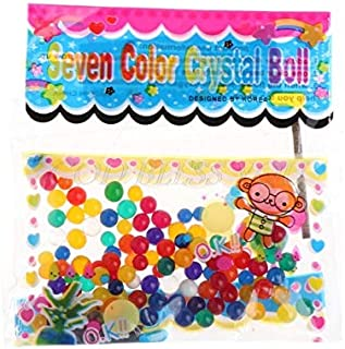 Cocotona 3600pcs Colorful Crystal Beads Water Plant Soil Mud Flower Jelly Hydro Gel Pearl Balls - Gold Blue Eater Seeds Bamboo 000pcs Soul Water Granules Crystal Soil Beads Bead Plants Pearls