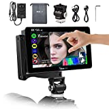 Timbrecod DC-56 DSLR on Camera Monitor 5.5 Inch Touch Screen Camera Video Field Monitor 4k HDMI Input Small Full HD 1920x1080 3D LUT 360° Rotating Bracket With 3500mAh Battery