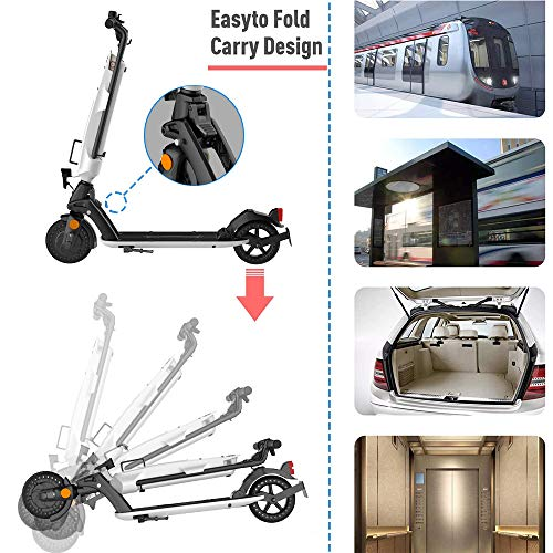 Elektroroller für Erwachsene, 7.5Ah Aluminium Abnehmbare Batterie, 350W Motor bis zu 20km/h, Faltbarer Elektroroller Tragbar & Leichtes Design, 8 Zoll Vollgummireifen E-Scooter mit Straßenzulassung - 6