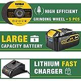 Immagine 1 smerigliatrice angolare a batteria 18v
