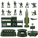 TOYANDONA Soldado Militar Modelo de Juguete 56 Piezas Mini S