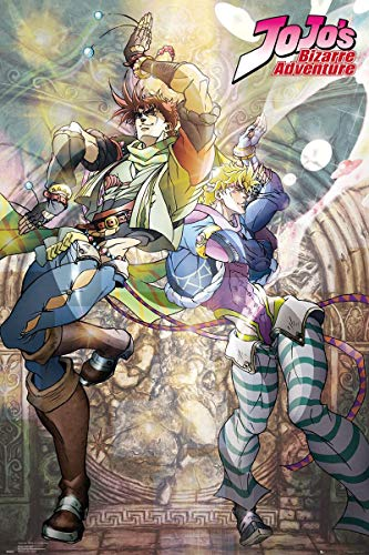 "GB eye Jojo's Bizarre Adventure Maxi poster Joseph et Caeser Multicolore 24 x 36""[Ancien Modèle]"