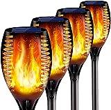 Solar-Fackel-Leuchten im Freien, 43 Zoll 96 LED, Wasserdichte Landschaftsgarten-Pfad-Licht mit lebendigem Tanzen flackernde Flammen, mit automatischer Ein- / Aus-Dämmerung bis zum Morgengrauen, for We