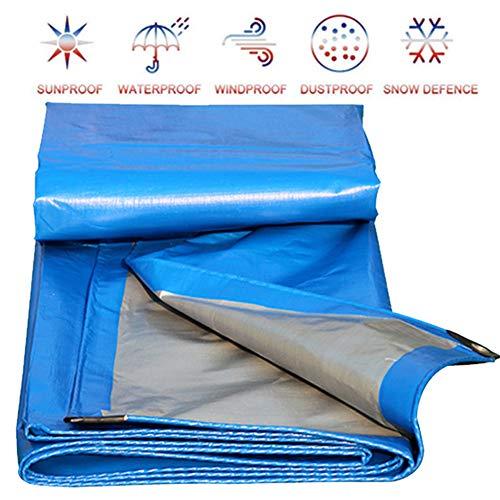 Allyine Lona Impermeables Exterior, Cubierta Impermeable de Lona Reforzada con Cubierta de Lona de PE para Carpa de Camping Camión, Resistente al Rasgado y rasgaduras,5x8m/16x26ft