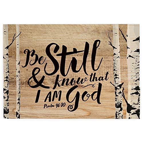 """P. Graham Dunn 6.5"""" x 4.5"""" Mini Tabletop Wooden Decorative Sign (Know That I Am God)"""