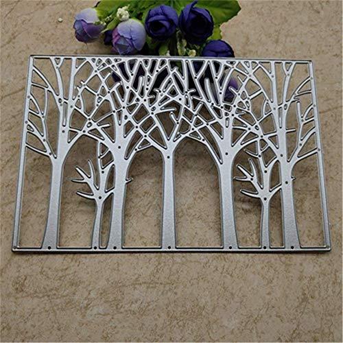 ANNIUP Schöne Baum-Stanzformen Hintergrund Metall Stanzformen Schablonen für Kartenherstellung dekorative Prägung Anzug Papier Karten Stempel DIY