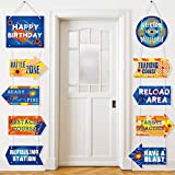 Dart War Party Signs Cutouts Dart War Party Door Signs Party Decorations for Dart War Fans Boys Birthday Party