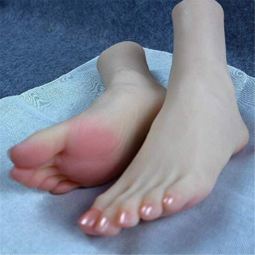 yunyu Schaufensterpuppenfuß, Kieselgelfuß Puppen Silikon realistischer Fuß lebensechte weibliche Simulation schöne Füße für Socken Zeigen Modellfüße und 36A-Größe Kunstfoto-Shooting