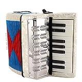 Wosune Bass Akkordeon, Nützlich 17 Tasten Akkordeon Weiß Spezialfarbenes Kraftpapier Balg für...